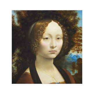 Lienzo Leonardo da Vinci Ginevra de' Benci