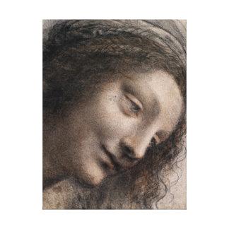Lienzo Leonardo da Vinci la cabeza de la Virgen