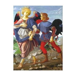 Lienzo Leonardo da Vinci Tobias y el ángel