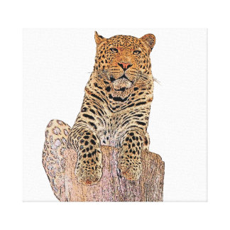 Lienzo Leopardo que le mira