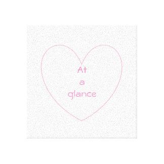 Lienzo Letras lindas y preciosas del corazón