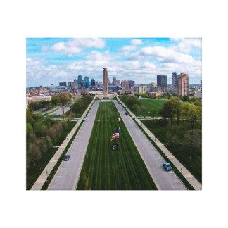 Lienzo Libertad Kansas City conmemorativo Missouri de la