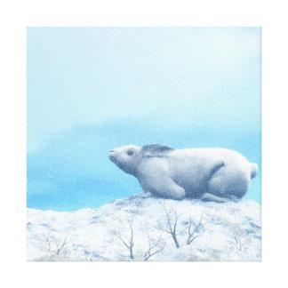 Lienzo Liebres árticas, lepus arcticus, o conejo polar