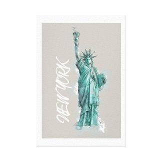 Lienzo Lienzo. Liberty estatua de libertad Nueva York