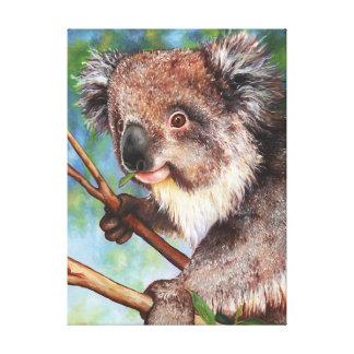 Lienzo Lindo y mimoso - koala joven