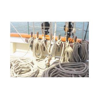 Lienzo Líneas del velero