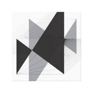Lienzo Líneas y triángulos simples en lona