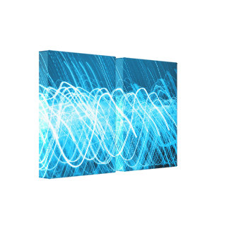 Lienzo Lites azul de neón