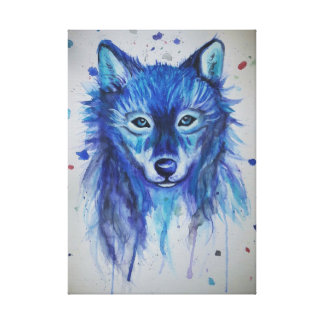Lienzo Lobo del Watercolour