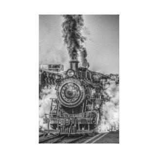 Lienzo Locomotora de vapor del vintage