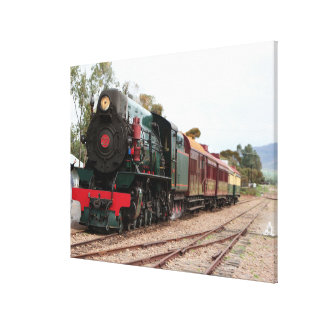 Lienzo Locomotora de vapor ferroviaria de Pichi Richi 2
