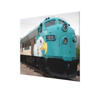 Lienzo Locomotora del tren del barranco de Verde,