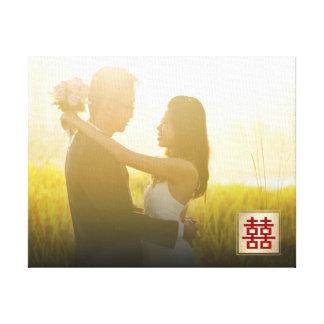 Lienzo Lona china de la foto del boda de la felicidad