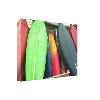 Lienzo Lona colorida de la canoa