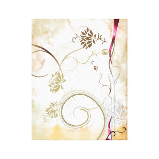 Lienzo lona colorida de la flor