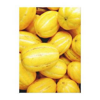 Lienzo Lona coreana de la foto del melón