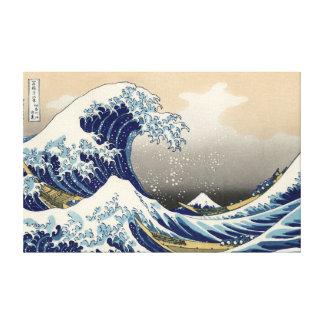 """Lienzo Lona de Kanagawa de Hokusai """"la gran onda"""""""