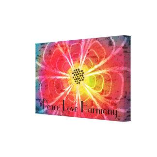 Lienzo Lona de la armonía del amor de la paz de la flor