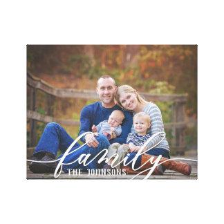 Lienzo Lona de la foto de familia