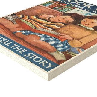 Lienzo Lona de la semana del libro de 1948 niños