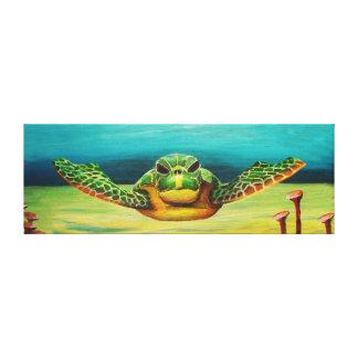Lienzo Lona de la tortuga de mar de la natación