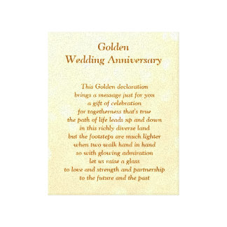 Lienzo Lona del aniversario de boda de oro