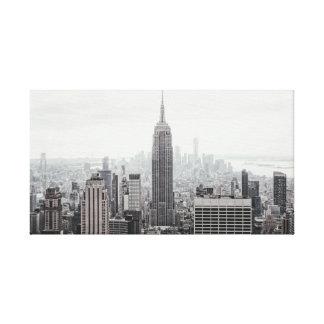 Lienzo Lona del horizonte de New York City
