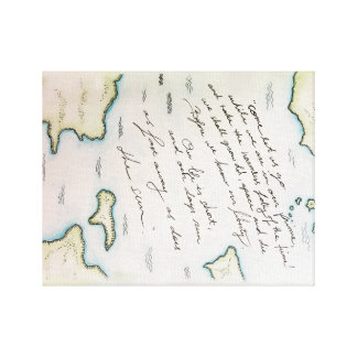 Lienzo Lona del mapa de la poesía
