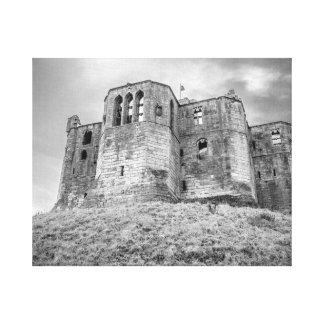 Lienzo Lona envuelta castillo de Warkworth