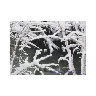 Lienzo Lona envuelta corriente hivernal