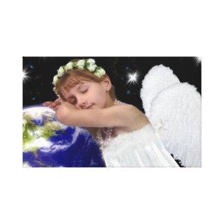 Lienzo Lona envuelta del ángel de guarda