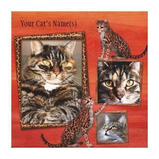 Lienzo Lona envuelta foto personalizada del gato