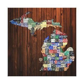 Lienzo Lona envuelta mapa de la placa de los condados de