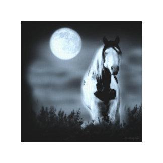 Lienzo Lona envuelta Shaman místico iluminado por la luna