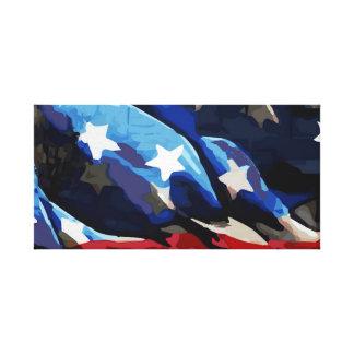 Lienzo Lona estirada de la bandera americana