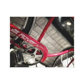 Lienzo Lona industrial rústica roja de la bicicleta #2