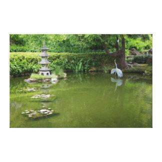 Lienzo Lona japonesa de la charca #2 del jardín de té de
