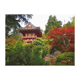 Lienzo Lona japonesa de la puerta #3 del templo del