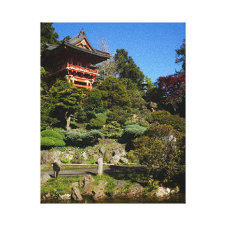 Lienzo Lona japonesa de la puerta del templo del jardín