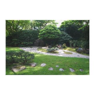 Lienzo Lona japonesa del jardín #2 del zen del jardín de