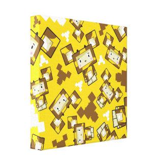 Lienzo Lona linda de la jirafa de Blockimals del dibujo