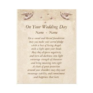 Lienzo Lona personalizada Art. del poema del día de boda