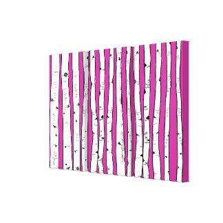 Lienzo Los árboles de abedul usted elige color de fondo