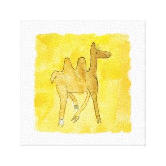 Lienzo Los dibujos del Tinca. Acuarela infantil con el