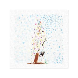 Lienzo Los dibujos del Tinca. Árbol de navidad