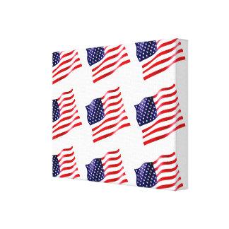 Lienzo Los E.E.U.U. señalan por medio de una bandera en