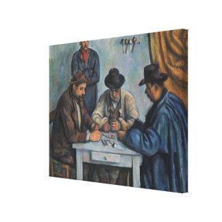 Lienzo Los jugadores de tarjeta