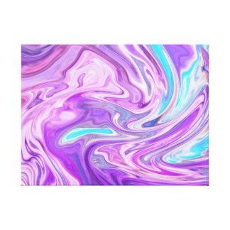 Lienzo los remolinos azules y de la púrpura rosados