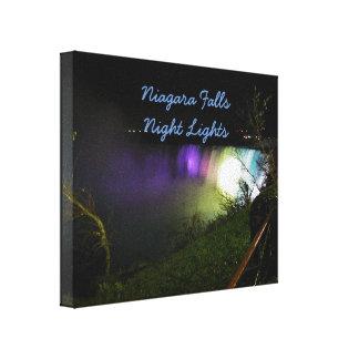 Lienzo Luces brumosas Niagara Falls