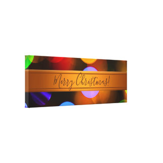 Lienzo Luces de navidad multicoloras. Añada el texto o